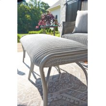 All Seasons Settee Ottoman with Padded Seat