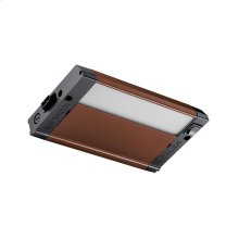 """4U 8"""" 3000K LED Cabinet Light Textured Bronze"""