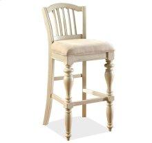 Mix-N-Match Upholstered Seat Barstool Dover White finish