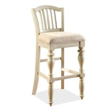 Mix-N-Match Upholstered Seat Barstool Dover White finish