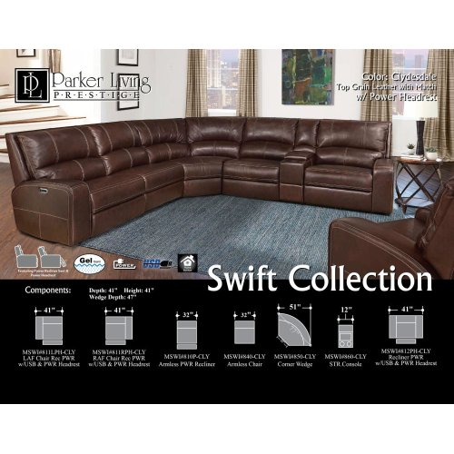 Swift Clydesdale Power Left Arm Facing Recliner