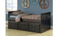 Logan Black Twin Captain's Bed