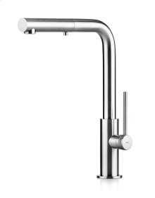 Solid Stainless Steel Faucet With A Pull Out Dual Spray Hand Shower