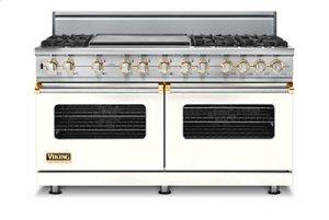 "60"" Custom Sealed Burner Dual Fuel Range, Propane Gas, Brass Accent"
