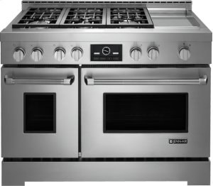 """48"""" Pro-Style® LP Range with Griddle and MultiMode® Convection System"""