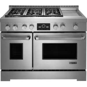 "JENN-AIR48"" Pro-Style(R) LP Range with Griddle and MultiMode(R) Convection System"