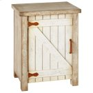 Distressed White Cabinet With Rusted Hardware Product Image