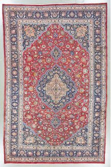 """PERSIAN 000033087 IN RED NAVY 10'-0"""" x 15'-8"""""""