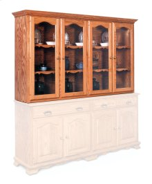 Classic Closed Hutch Top, Extra Large, Antique Glass