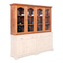 """Classic Closed Hutch Top, 75 1/2"""", Antique Glass"""