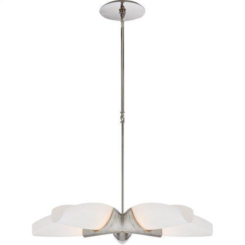 Visual Comfort KW5036PN-WG Kelly Wearstler Utopia 5 Light 33 inch Polished Nickel Chandelier Ceiling Light