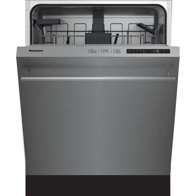 """Blomberg 24"""" ADA height dishwasher 5 cycle top control stainless 48 dBA"""