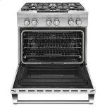 Kitchenaid 36'' 6-Burner Dual Fuel Freestanding Range, Commercial-Style - Imperial White