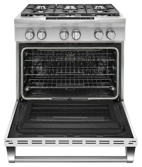 36'' 6-Burner Dual Fuel Freestanding Range, Commercial-Style - Imperial White