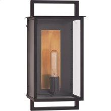 Visual Comfort S2191AI-CG Ian K. Fowler Halle 1 Light 18 inch Aged Iron Outdoor Wall Lantern, Medium