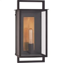Visual Comfort S2191AI-CG Ian K. Fowler Halle 1 Light 18 inch Aged Iron Outdoor Wall Lantern, Medium