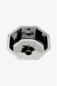 "Normandy Drop In or Undermount Octagonal Hammered Copper Lavatory Sink 16 3/4"" x 16 3/4"" x 8 11/16"" STYLE: NOLV19"