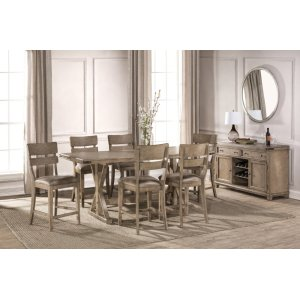 Hillsdale FurnitureLeclair 7 Piece Counter Height Dining Set - Wire Brushed Vintage Gray