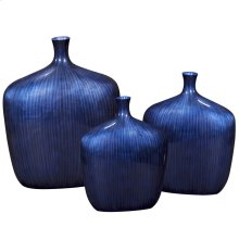 Sleek Cobalt Blue Vase - Small