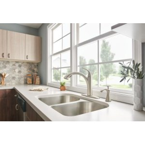 Camerist spot resist stainless one-handle pullout kitchen faucet