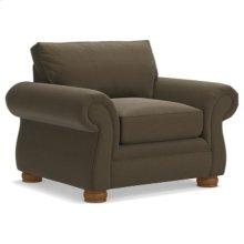 Pembroke Premier Stationary Chair w/ Brass Nail Head Trim