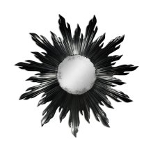 Small Black Sunburst Mirror