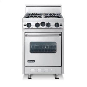 "Eggplant 24"" Open Burner Range - VGIC (24"" wide range with four burners, single oven)"