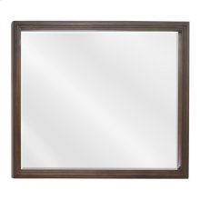"44"" x 34"" Large Buttercream reed-frame mirror with beveled glass"