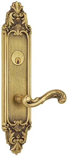 Exterior Ornate Mortise Entrance Lever Lockset with Plates in (Exterior Ornate Mortise Entrance Lever Lockset with Plates - Solid Brass )