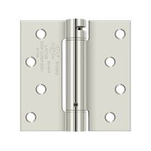 "4""x 4"" Spring Hinge, UL Listed - Polished Nickel"