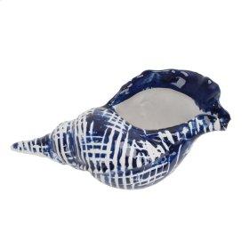 Dark Blue/white Ceramic Shell