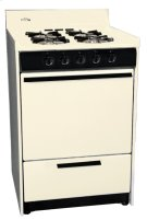 """Bisque Gas Range In Slim 24"""" Width With Electronic Ignition and Sealed Gas Burners; Replaces Stm6107f Product Image"""