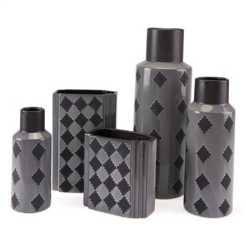 Arlequim Bottle Lg Gray & Black