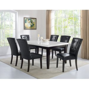 Steve Silver Co.Francis 7 Piece Marble Top Dining(Table & 6 Side Chairs)