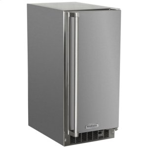 "MarvelMarvel 15"" Outdoor Clear Ice Machine - Solid Stainless Steel Door - Left Hinge"