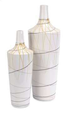 Curasso Retro Finish Vases - Set of 2