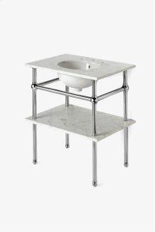 "Pratt Metal Four Leg Single Washstand 28"" x 20"" x 32"" STYLE: PRWS01"