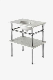 "Pratt Metal Four Leg Single Washstand 28"" x 20"" x 32"" STYLE: PRWS01"