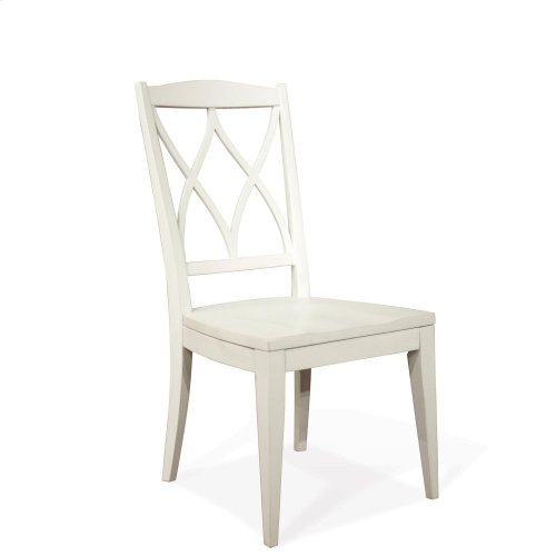 Myra - Xx-back Side Chair - Paperwhite Finish