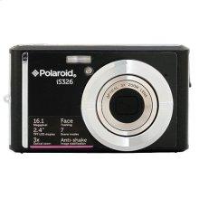 Polaroid 16-Megapixel Ultra Slim 12x Enhanced Optical Zoom Digital Camera with 2.4-Inch LCD Screen, iS326-Blk