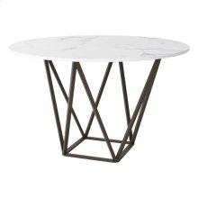 Tintern Dining Table Stone & A. Brass