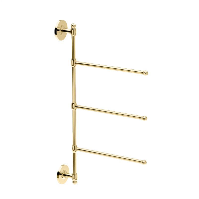 3 Arm Towel Bar In Polished Br