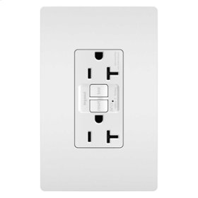 Tamper-Resistant 20A Outlet Branch Circuit AFCI Receptacle, White