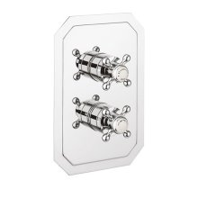 Belgravia 2500 Thermostatic Valve Trim with Integrated Volume Control/Three-way Diverter and Cross Handles - Polished Chrome