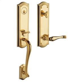 Lifetime Polished Brass Bethpage Handleset