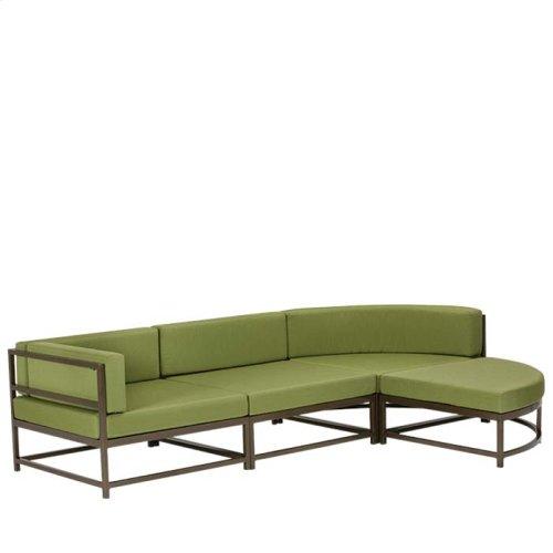 "Cabana Club Cushion Curved Ottoman (15"" Seat Height)"