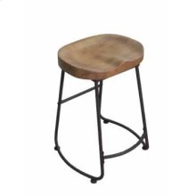 Industrial Driftwood Counter-height Stool