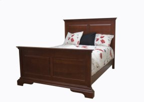 Wellington Panel Bed, Wood Rails And Wooden Slats