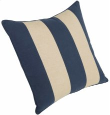 "Luxe Pillows Awning Stripe w/welt (23"" x 23"")"