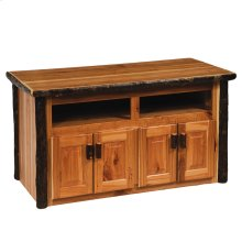 Widescreen Television Stand Natural Hickory